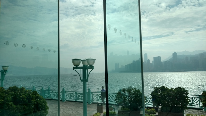 View of Victoria Harbour during the day from the Grand Harbour hotel