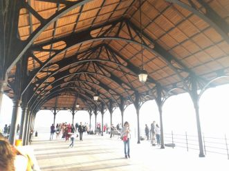 The historic cast iron roof at the Blake Pier