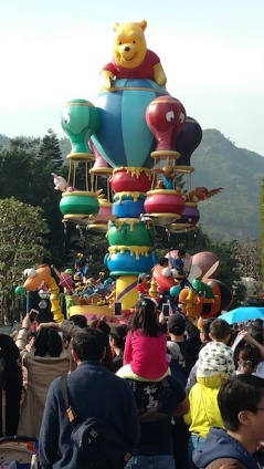 A float at the Flights of Fantasy Parade