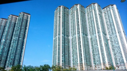 New residential buildings in Hong Kong