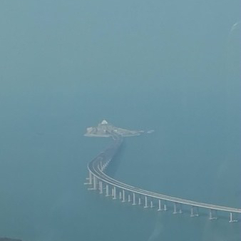 The bridge and undersea tunnel from HK to Macau