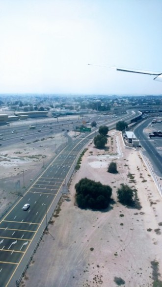 Dubai from the airplane