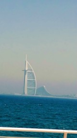 The majestic Burj Al Arab and and the Jumeirah Beach Hotel