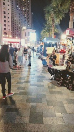 The pop-up stalls along The Walk at JBR