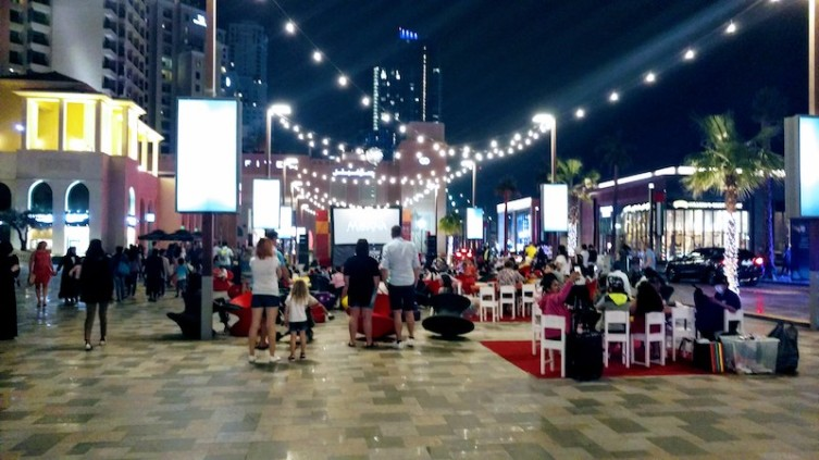 The open air cinema at The Walk, JBR