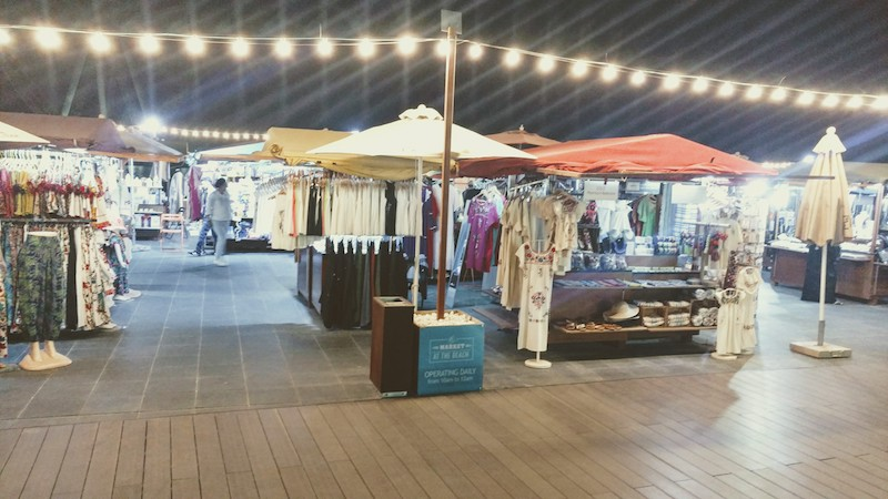 The pop-up stalls at The Beach