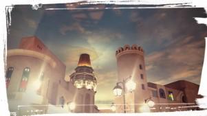 The endless blue skies in the Ibn Battuta Mall