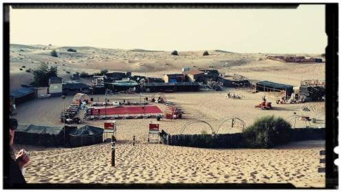 The camp at the desert safari