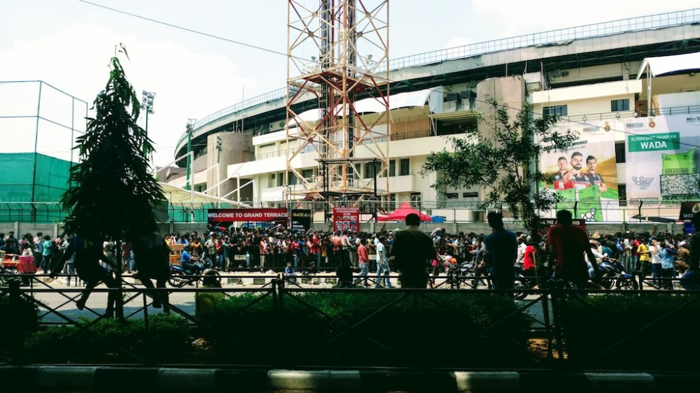 Queue for the IPL tickets@Bangalore