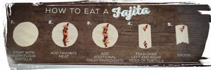 How to eat a Fajita
