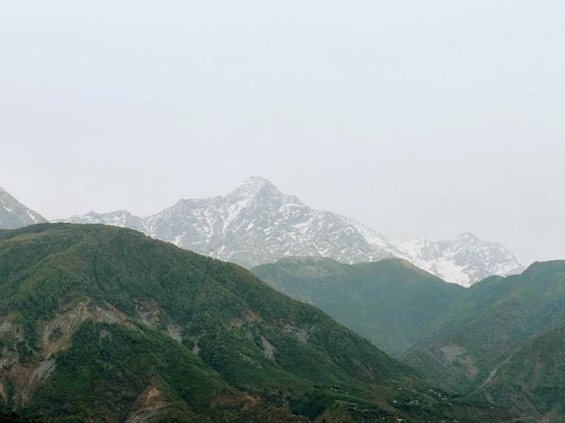 Dhauladhar range from Dharamshala