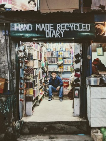 The Handmade Recycled Diary shop on the Mall road