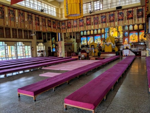 Inside the Temple of Gyuto Tantric University