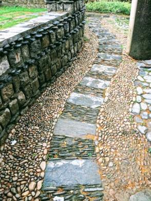 A walkway inside the Norbulingka Institute