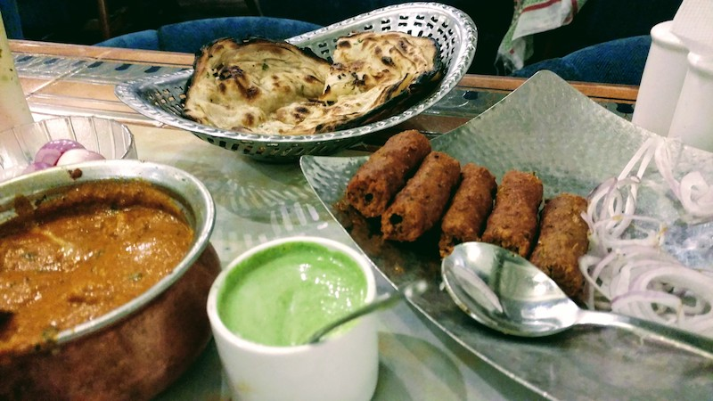 Lunch @Crystal - Butter Chicken, Roti & Sheek Kebab