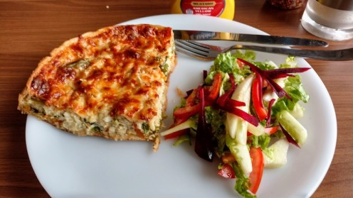 Quiche and green salad