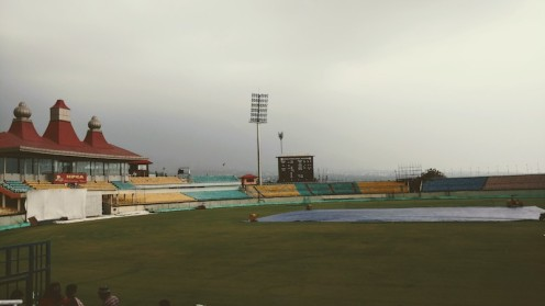 The covered pitch at the HPCA Stadium