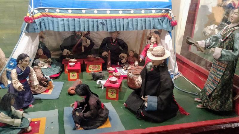 A picnic scene in Tibetan culture.