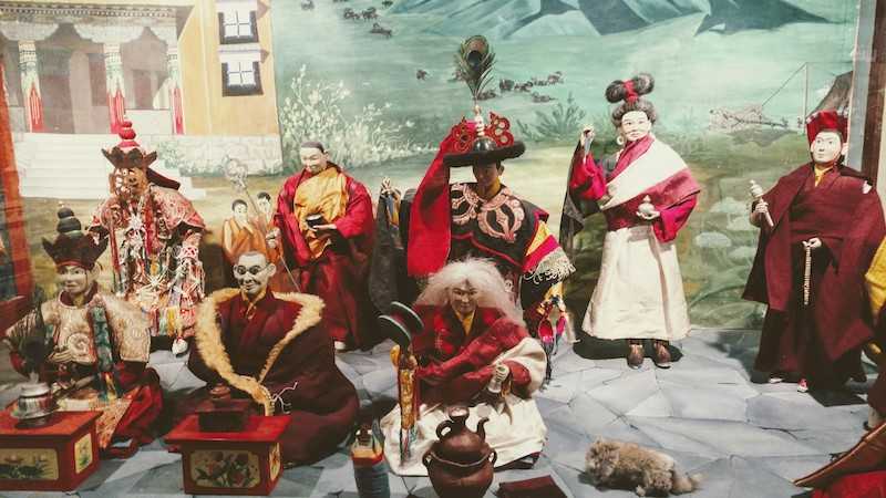 Religious costumes - the red and maroon robes came to be recognized as the monastic robes of Tibet