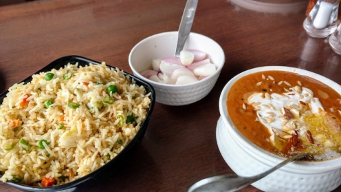 Veg Pulao and Dum Aloo