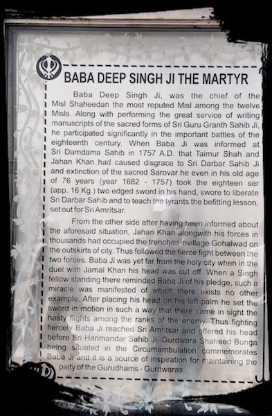 The story of Baba Deep Singh Ji