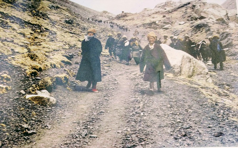 HH the 14th Dalai Lama during the escape from Tibet in 1959