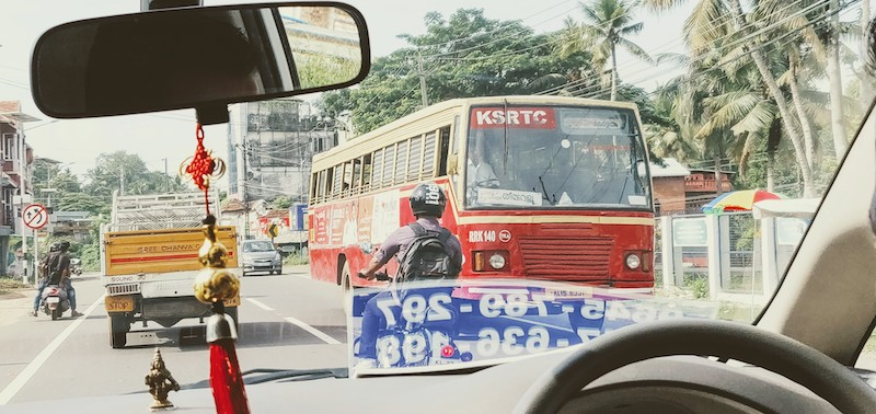 Kerala State Road Transport Corporation Buses (KSRTC) - King of the Roads, every other vehicle makes way for it