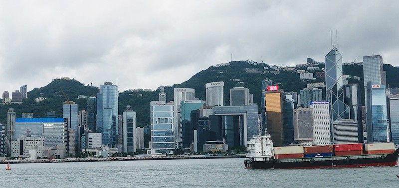Central, seen across the Victoria Harbour from Tsim Sha Tsui promenade