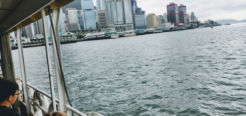 Crossing the Victoria Harbour on the Star Ferry
