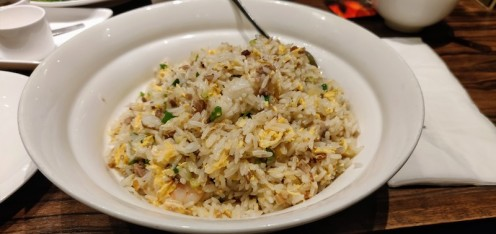 Fried rice with Shrimp, Meat & Chinese Ham