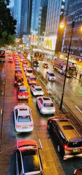 Saturday evening traffic