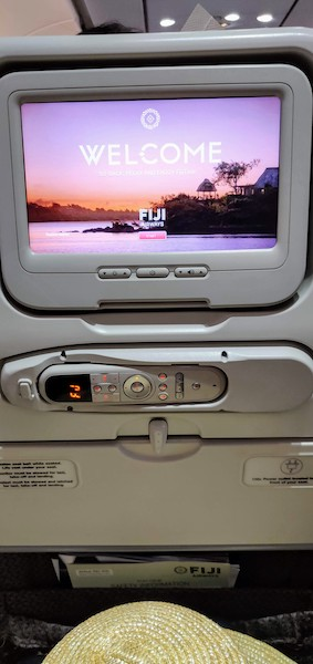 Aboard Fiji Airways