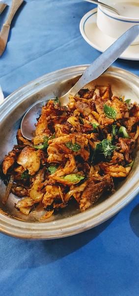 Kerala style chicken pepper fry