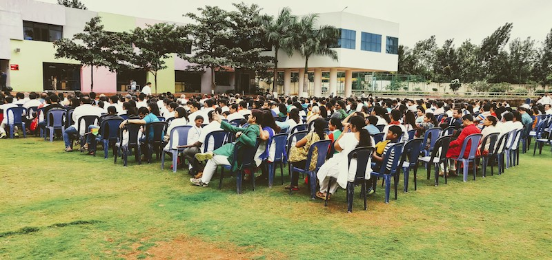 A full house at the school for the Independence Day celebrations