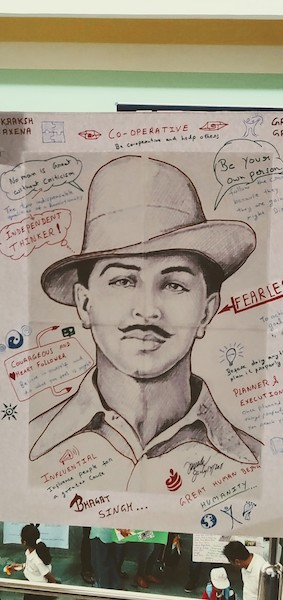 Bhagat Singh @ The charts exhibition