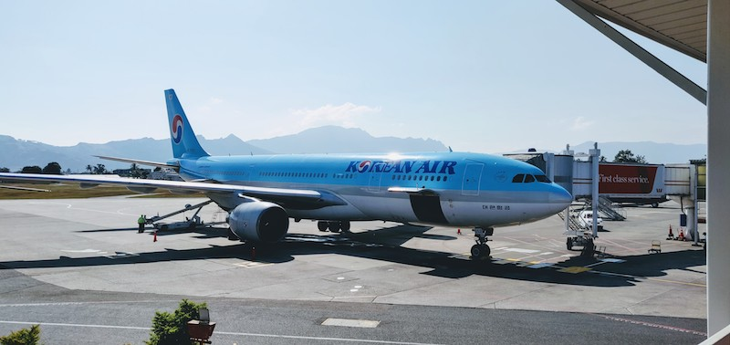Korean Air at Nadi airport