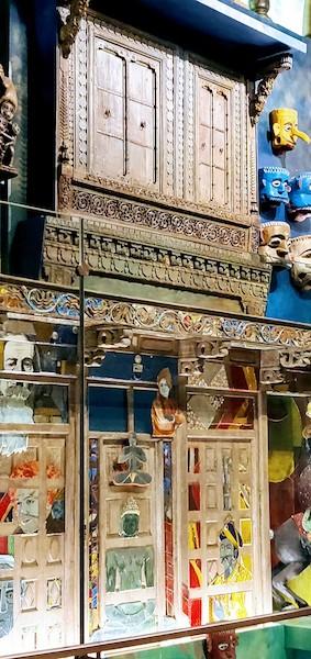Thresholds of India art work at the Mumbai airport