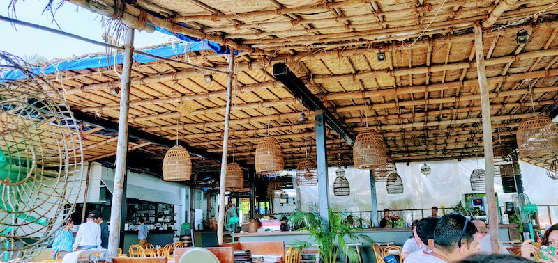The restaurant at Antares at Vagator, Goa