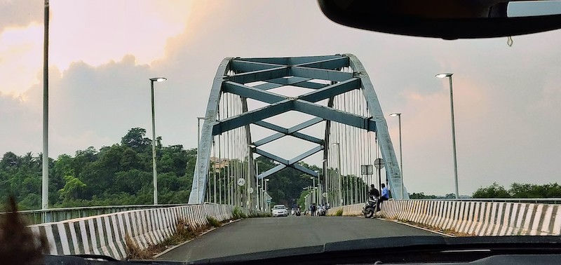 Aldona Calvim bridge in Goa