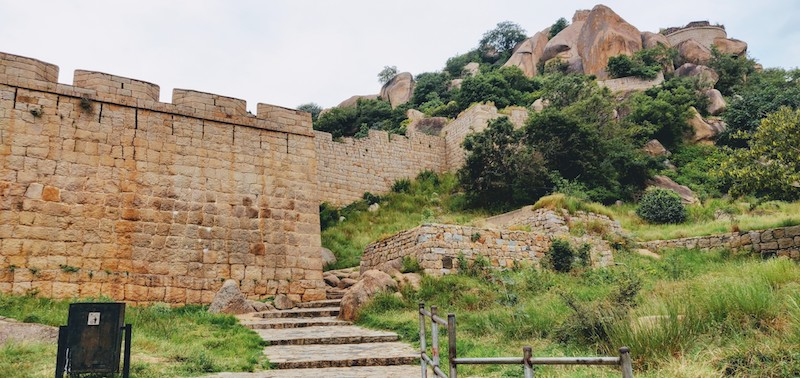 The ramparts of the Chitradurga fort