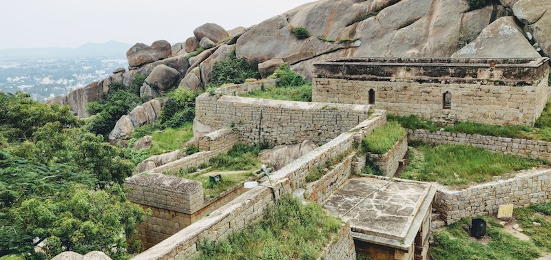 A part of the Chitradurga fort