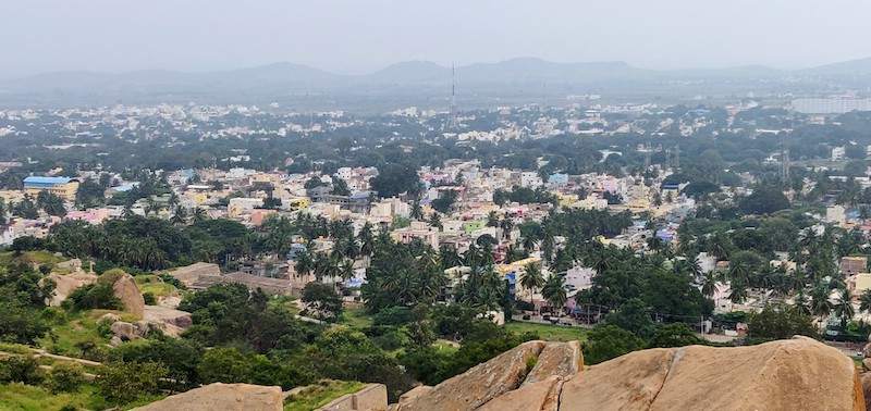 View of the town below from the Chitradurga fort