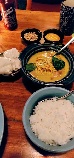 Khao Soi Curry (Chicken) with sticky Jasmine rice