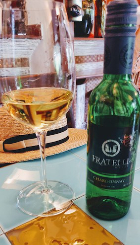 Fratelli Chardonnay at Mum's kitchen, Panjim