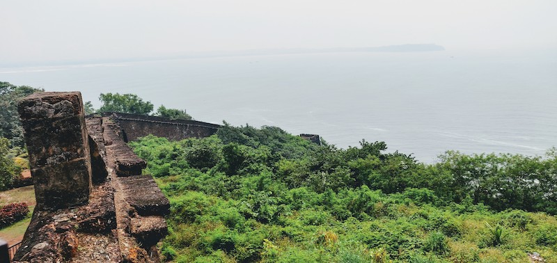 The lower part of the Aguada fort