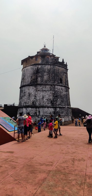 The lighthouse at Aguada fort