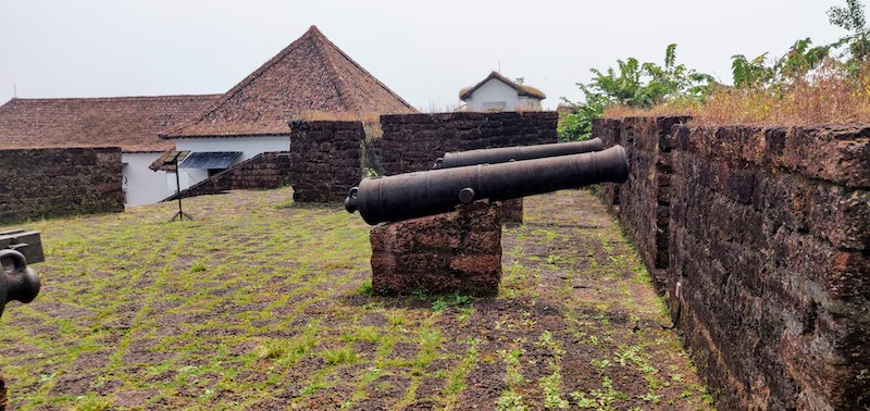 Cannons at the Reis Magos fort in Goa