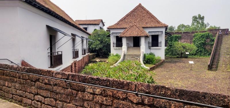 Inside the Reis Magos fort in Goa