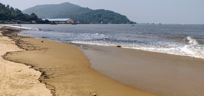 The beach at Karwar, Karnataka