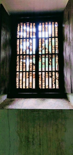Typical window built in the Portuguese style - using thin polished oyster-shells